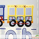 Choo Choo Train Name Canvas