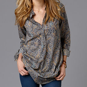 Long Liberty Lawn Shirt - blouses & shirts