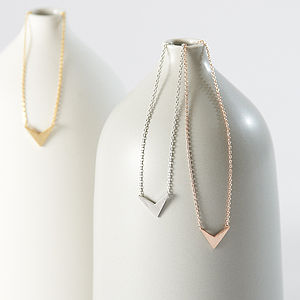 Chevron Necklace - women's jewellery