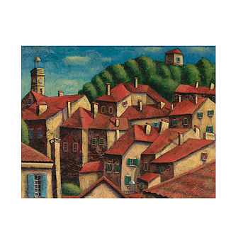 French Rooftops Print