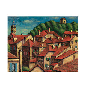 French Rooftops Print - canvas prints & art