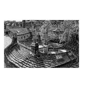 Yorkshire Rooftops Print - contemporary art