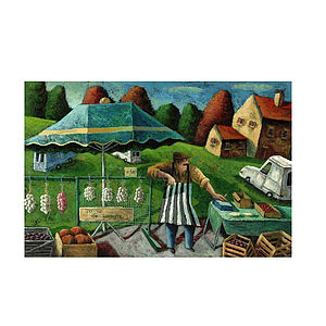 The Garlic Seller Print - canvas prints & art