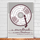 Soundtrack To Christmas Personalised Print