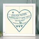 Personalised Christening Heart Print