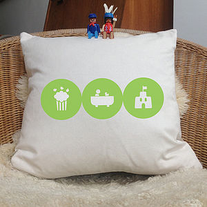 Personalised 'Child Hobbies' Cushion - cushions