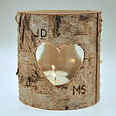 Personalised Birch Bark Candle Holder
