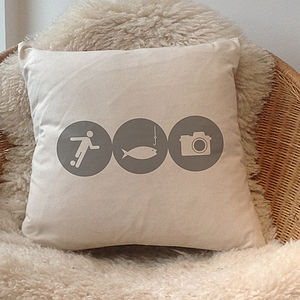 Personalised 'Hobbies' Cushion - soft furnishings & accessories