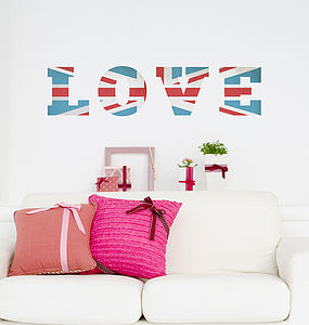 'Vintage Union Jack' Wall Sticker