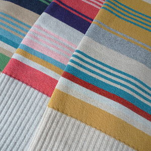 Lambswool Stripe Blanket - sleeping