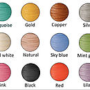 Leather cord colours