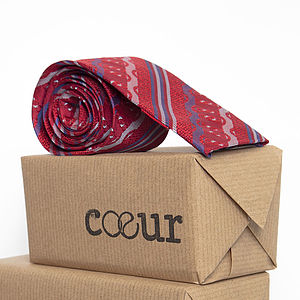 British Silk Oxford Square Tie In Flyte