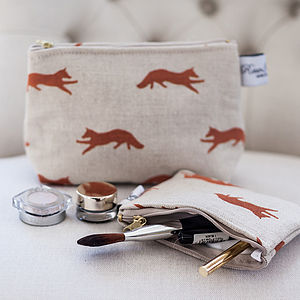 Cosmetic Bag Fox - make-up & wash bags