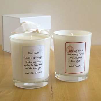 Personalised Christmas Aromatherapy Candles