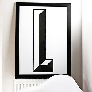 Giant Monochrome Initial Or Number Print