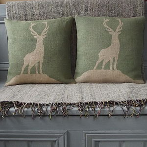 ' Highland Stag ' Cushions And Throw Collection - throws, blankets & fabric