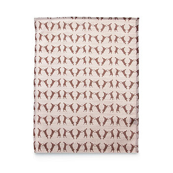 Boxing Hare Linen Tea Towel