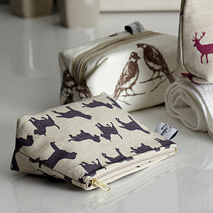 Cosmetic Bag Dogs - make-up & wash bags