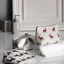 Pink Stag Classic Cosmetic Bag