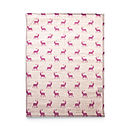 Pink Stag Linen Tea Towel