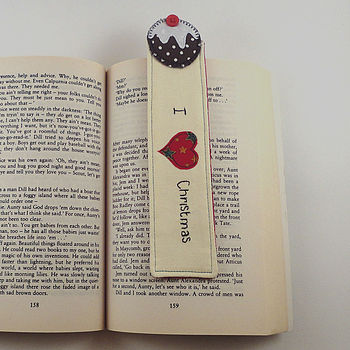 Personalised 'I Love Christmas' Bookmark