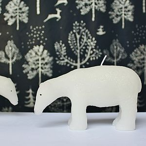 White Polar Bear Candle - tableware