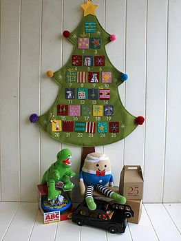 Felt Christmas Tree Advent Calendar