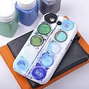 Personalised Paint Set case for Samsung S3 Blues