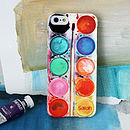 Personalised Paint Set case for iPhone 5/5S Red