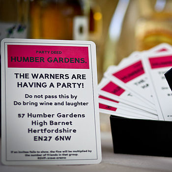 Board Game Style Party Invites