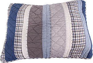 Varsity Quilted Pillowcase - cushions