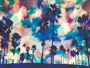 Palms Print Canvas - affordable art