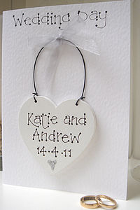 Keepsake Wedding Day Card