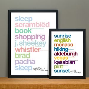 Personalised 'My Perfect Day' Print