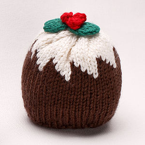 Christmas Pudding Merino Knitted Hat - babies' hats