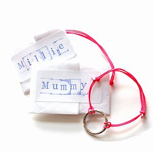 Personalised Mum And Me Loop Bracelet Set - clothing & accessories