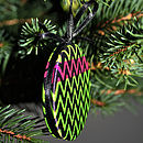 Christmas Tree Decoration Bright Yellow/Pink