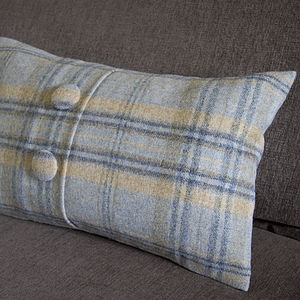Handmade Plaid Wool Cushion - cushions
