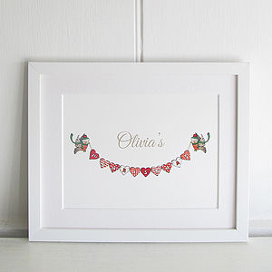 Personalised Baby's 1st Christmas Print