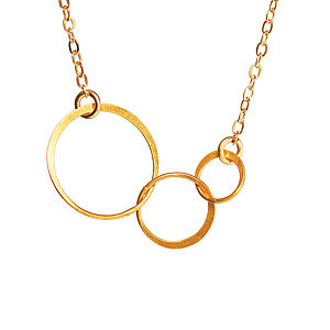 Gold Love Life And Laughter Necklace - women's jewellery