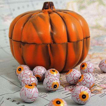 Halloween Chocolate Pumpkin With Eyeballs