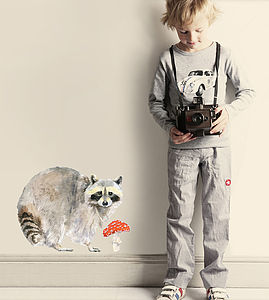 Raccoon Wall Stickers - baby & child sale
