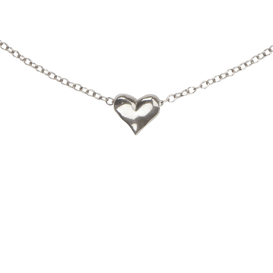 My Delicate Heart Necklace In Silver