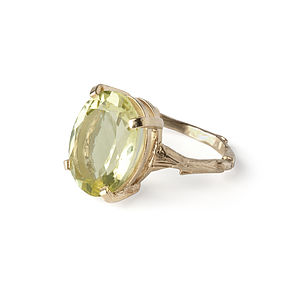 Lemon Quartz & Gold Beauty In The Wild Ring - rings