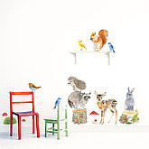 Woodland Animals Wall Stickers Size Medium - easter