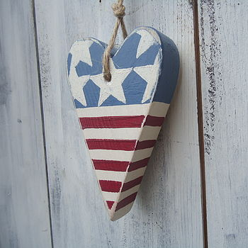 Stars And Stripes Heart Decoration