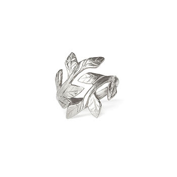Sterling Silver Laurel Leaf Ring