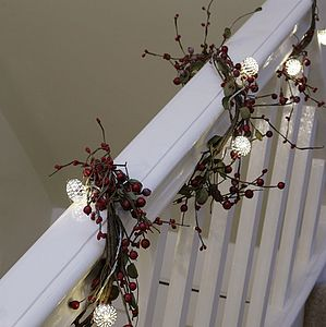String Of Silver Lattice Lights - garlands, bunting & hanging decorations