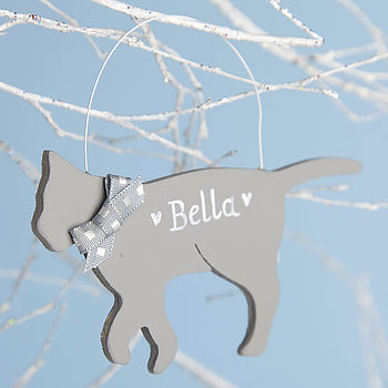 Personalised Black, Grey Or White Cat
