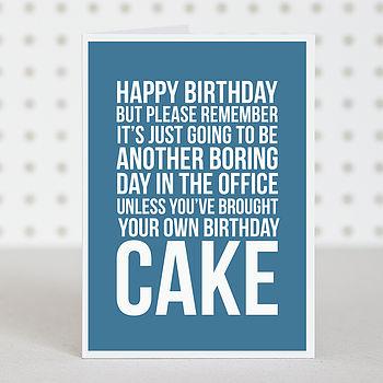 'Office Cake' Birthday Card